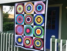 Soho Solids Bullseye Quilt Tutorial