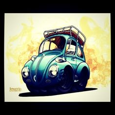 cartoon vw