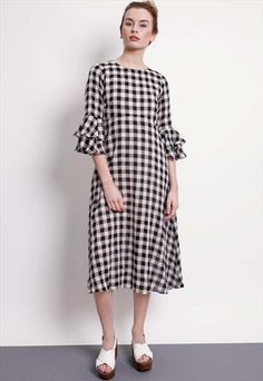 GLORIOUSLY CHEQUERED PAST - LUCK BE A LADY GINGHAM DRESS- TRAFFIC PEOPLE