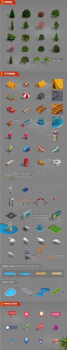 Isometric Map Generator by design hatti, via Behance