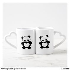 Shop Kawaii panda coffee mug set created by kawaiishop. Coffee Mug Sets, Mugs Set, Panda Nursery, Gifts For Her, Great Gifts, Bear Theme, Bachelorette Gifts, Cute Cartoon Animals, Cute Sweatshirts