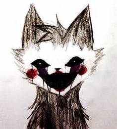 Drawing of a cat puppet