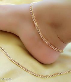 Anklets & Toe Rings Trendy Stone Work Anklet Material: Alloy Size:  Free Size Description: It Has 1 Pair Of Anklet Work: Stone Work Sizes Available: Free Size   Catalog Rating: ★3.9 (17376)  Catalog Name: Ladies Beautiful Alloy Anklets CatalogID_106519 C77-SC1098 Code: 201-907953-