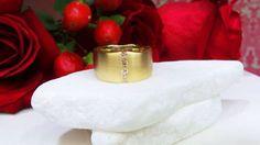 Yellow gold and diamond band by David Klass Jewelry.