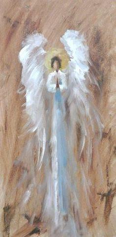 Luz y Oscuridad en mi...Precioso Ángel orando.