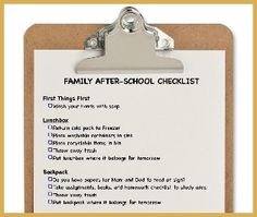 What is your before and after school routine?
