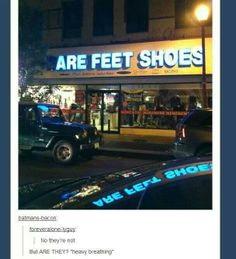 To our feet bones, yes.