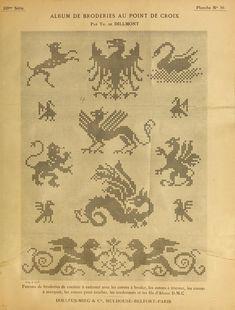Album de broderies au point de croix - 1890 - found via Archive.org - texts