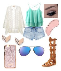 """""""Untitled #16"""" by tabbytha-walsh ❤ liked on Polyvore featuring 3x1, ADRIANA DEGREAS, KG Kurt Geiger, FOSSIL and NYX"""