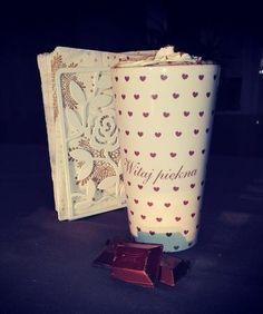 Duży kubek ceramiczny Latte z nadrukiem Witaj Piękna 450ml