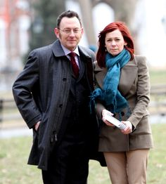 'Person of Interest' Aww...Michael Emerson (Finch) with his wife Carrie Preston (who plays his love interest Grace on the show!)