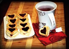 Cooking for Kishore: Happy St. Valentine's Day! Strawberry Jelly Biscuits