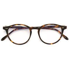 Pantos Paris round frame glasses (£155) ❤ liked on Polyvore featuring accessories, eyewear, eyeglasses, brown, tortoise glasses, tortoise eyeglasses, tortoise eye glasses, unisex glasses and tortoise shell glasses