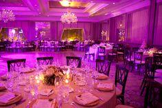 Purple up lighting at the Four Seasons Boston