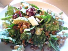 Amy's Nutritarian Kitchen: Healthy Vegan Friday: Sweet and Savory Wheatberry Salad