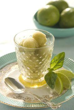 Basil-Lime Sorbet recipe!