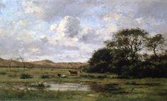 A Landscape with Cows - Pierre Emmanuel Damoye