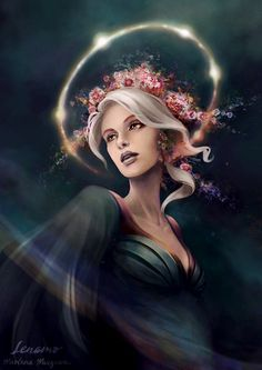 As you know, I love painting night embodiments and here is another one. I called her The Dawn Star or Eos from Greek mythology, but in my language she would be called Jutrzenka. I'm absolutely in l...
