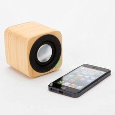 Bluetooth Bamboo Speaker. It's got Big sound for its small size! #music dotandbo.com