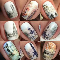 Nail art Paris ville Tour Eiffel