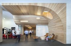 Geyer have designed a lobby area for an office building in Brisbane, Australia.