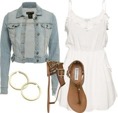 """""""Jean Jacket Outfit!"""" by conner-kawehionalani on Polyvore."""