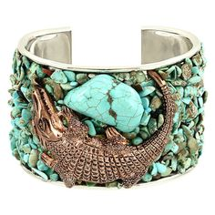 For the Girl who Has Everything we bet she doesn't have a copper gator cuff. We couldn't resist the unique blend of copper, turquoise and our favorite reptile.