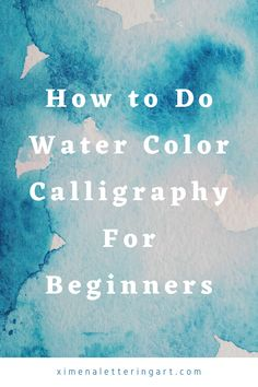 Here in this article you are going to learn about watercolor calligraphy and watercolor lettering. This a lettering tutorial for beginners. Hand Lettering For Beginners, Calligraphy For Beginners, Hand Lettering Styles, Hand Lettering Alphabet, Hand Lettering Tutorial, Creative Lettering, Lettering Design, Lettering Ideas, Learn Watercolor Painting