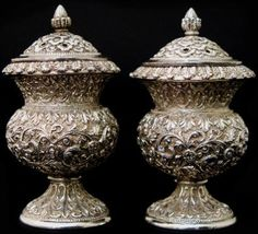699. Silver Pepper Pots, Cutch, Kutch, India, Antique