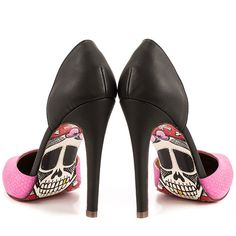 Strut your stuff with tattoo shoes and skull shoes for women from Inked Shop. Our Gothic and punk rock shoes include flats, heels, platforms, boots and more. Pin Up Shoes, Me Too Shoes, Fab Shoes, Awesome Shoes, Dream Shoes, Pink Pumps, White Pumps, Skull Shoes, Pink Snake