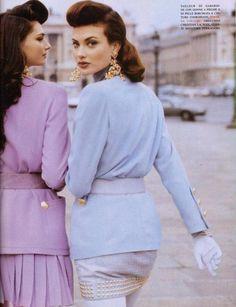 Vogue 1992  - Shalom Harlow and Heather Stewart-Whyte
