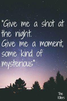 The Killers #Shot at the night #Brandon Flowers