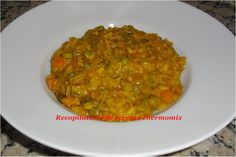 Amb carxofes i costelles porc Rice Recipes, Recipies, Pasta, Risotto, Curry, Healthy Eating, Ethnic Recipes, Blog, Ideas
