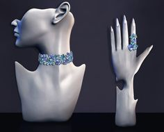 Rhinestone Diamond Jewelry Set (ts3)Choker: • 4 recolorable channels • Female Y/A • New mesh • No morphs • CAS and Launcher Thumbnail Ring: • 4 recolorable channels • Female Y/A • New mesh • Right...