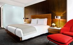A King Superior and its slightly larger twin, a King Deluxe room at Smyth TriBeCa in New York City