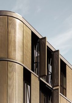 An Apartment Building Designed By Elenberg Fraser In St Kilda A Suburb Of Melbourne Incorporates Solar Protection Through Bronze Colored Mesh From Gkd