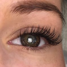 Vippeextensions Lash extensions close up