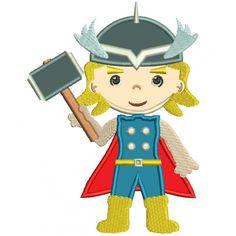 Looks Like Thor Superhero Applique Machine Embroidery Digitized Design Pattern