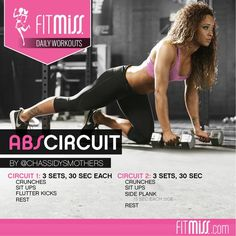 """FitMiss Workout of the Day! Six Pack Abs Workout, Ab Workout Men, Tabata Workouts, Mommy Workout, Floor Workouts, Workout Plans, Workout Body, Cardio Workout At Home, Men Exercise"