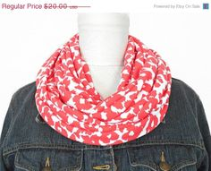 Christmas in July Sale Cheetah Infinity Scarf by ModaBellaScarves
