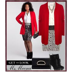 "Plus size ""Red, white and black"" by msmeena on Polyvore"