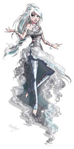 Diana Gothic Sirenix by Zoratrix.deviantart.com on @DeviantArt
