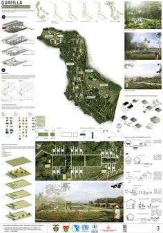 Gallery of First Place in international university competition of habitat CONVIVE VIII / Colombia - 36 Design Presentation, Architecture Presentation Board, Architecture Board, Landscape Architecture, Landscape Design, Architecture Design, Presentation Boards, Photoshop, Planer Layout