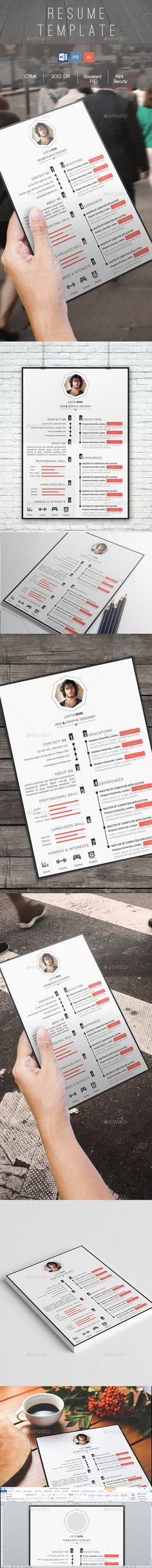 The Elegant CV Template PSD, Vector EPS / AI #design Download: http://graphicriver.net/item/the-elegant-cv/13959346?ref=ksioks