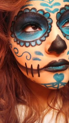My simple and easy sugar scull special effects makeup. (: