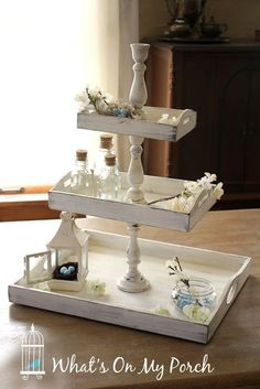 You'velikely been to the home décor stores and seen all the cute little three-tiered trays. Some are round, some are rectangular. Some a...