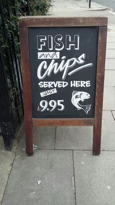 Fish and chips A board