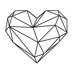 Decoration Murale Coeur - Art Mural - Love - pour Sejour, Chambre - Noir en Acier, 47 x 0,15 x 40 cm - HIO8681515566872 Geometric Heart, Geometric Shapes, Geometric Animal, Art Mural, Wall Art, Heart Wall Decor, Polygon Art, Geometric Drawing, String Art