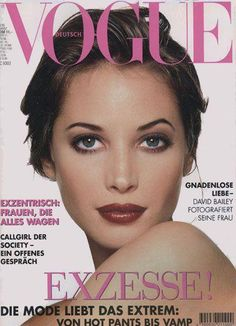 Vogue Germany cover with Christy Turlington - March 1995