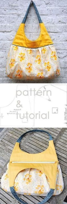 Beautiful Bag Sew Tutorial http://www.free-tutorial.net/2016/12/beautiful-bag-tutorial.html